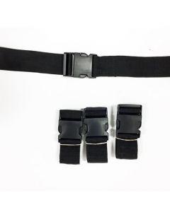 Riem 2-delig FW430-P zwart 7' plastic sluiting