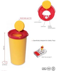 Naaldencontainer Opti-Safe 0,7L