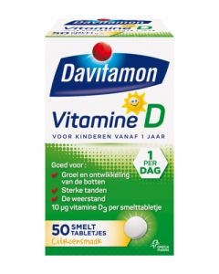 Davitamon Vit D smelttablet kind 50tb