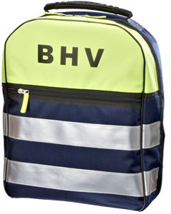 BHV Rugtas Marineblauw - gevuld