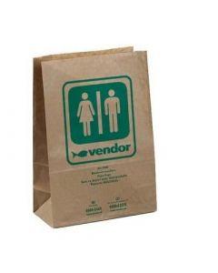 Afvalzak papier bruin 20.7x10x30cm