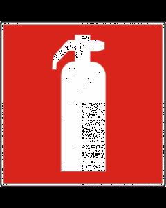 Pictogram sticker brandblusser 10x10cm