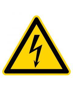 Pictogram sticker elektrische spanning 5x5cm