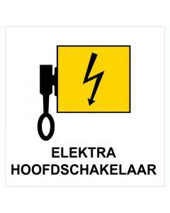 Pictogram sticker electra hoofdschakelaar 10x10cm