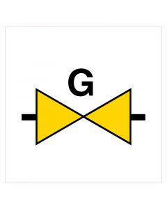 Pictogram sticker gasafsluiter 12x12cm