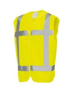 Veiligheidsvest RWS geel BHV maat XL-XXL