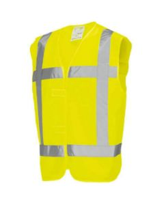 Veiligheidsvest RWS geel BHV maat M-L
